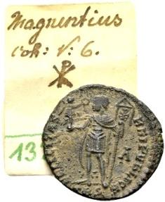 Ancient Coins - Magnentius AD 350-353, AE Centenionalis Trier / Ex Lückger