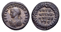 Licinius II Caesar AD 317-324, AE silvered Follis (19mm, 3.07 g) Thessalonica AD 318-19