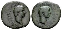 Ancient Coins - Crete, Cnossus. Nero AD 54-68 with Divus Claudius. AE 21mm (4.15 gram) / Ex Traeger and Rhigetti