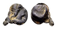 Ancient Coins - Roman lead seal (13x12x6 mm, 7.16 gram) first half 4th century