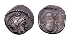 Ancient Coins - Cilicia, Tarsos. Balakros, Satrap of Cilicia 333-323 BC. AR Obol (10mm, 0.66 gram)