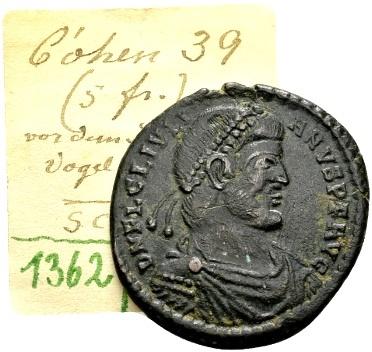 Ancient Coins - Julian II AD 360-363, AE1 (27mm, 8.01 g) Arelate / Ex Lückger