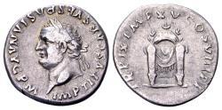 Ancient Coins - Titus AD 79-81, AR Denarius (18 mm, 3.26 g), Rome AD 80