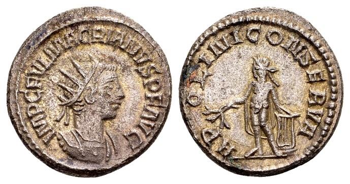 Ancient Coins - Macrianus AD 260-261, Billion Antoninianus (20mm, 4.54 g) Samosata