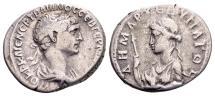 Ancient Coins - Cappadocia, Caesarea. Trajan AD 98-117, AR Didrachm (22x19mm, 6.80 g)
