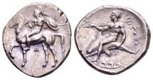 Calabria, Tarentum. AR Didrachm (22mm, 7.79 g) c. 355-340 BC