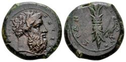 Ancient Coins - Sicily, Syracuse. AE Hemidrachm (24mm, 14.10 gram) before Timoleon 367-344 BC