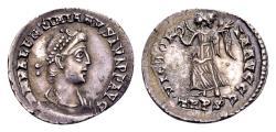 Ancient Coins - Valentinian II AD 375-392, AR Siliqua (18mm, 1.85 gram) Trier 375-378