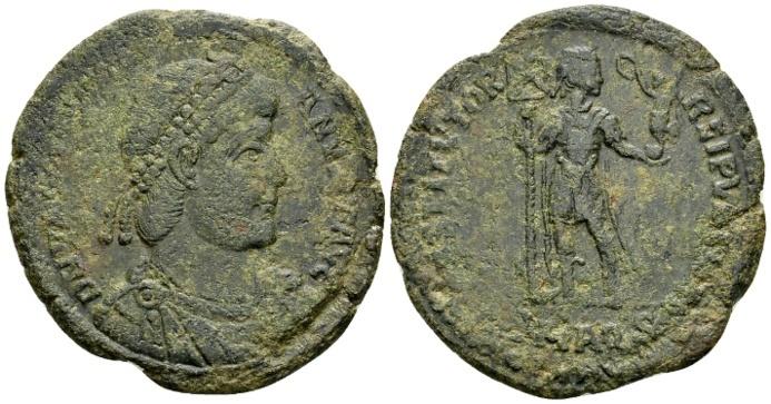 Ancient Coins - Valentinian I AD 364-375, AE1 (28mm, 7.73 g) Aquileia AD 364-65