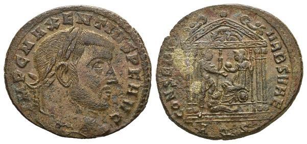 Ancient Coins - Maxentius AD 306-312, AE Follis (27mm, 6.95g) Aquileia AD 307