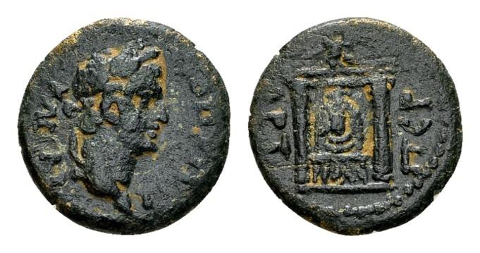 Ancient Coins - Pamphylia, Perga. Trajan AD 98-117, AE 15mm (2.43 gram)