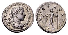 Ancient Coins - Severus Alexander AD 222-235, AR Denarius (19mm, 2.51) gram Rome