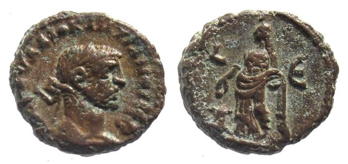 Ancient Coins - Egypt, Alexandria. Diocletian AD 284-305, AE tetradrachm (18mm; 7.40g) dated regnal year 5, AD 288-89