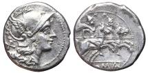 Ancient Coins - ANONYMOUS. AR, Denarius. 211 BC. Rome mint. Dioscuri. ROMAN REPUBLIC.