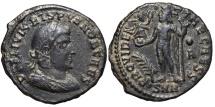 Ancient Coins - CRISPUS. Æ, Follis. 317-320 AD. Nicomedia mint. (SNN?). PROVIDENTIAE CAESS. Scarce R2.