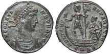 Ancient Coins - CONSTANTIUS II. AE Maiorina. 348-350 Ad. Thessalonica TESB.