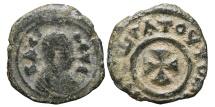 Ancient Coins - AXUM. AE15, Anonymous. Circa 370. Greek cross. KINGDOM OF AXUM.