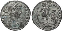 Ancient Coins - CONSTANTIUS II. AE Maiorina. 348-350 Ad. Thessalonica TESB.
