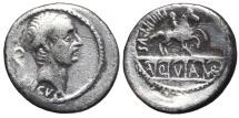 C. MARCIUS PHILIPPUS. AR, Denarius. 57-56 BC. Rome mint. Aqueduct & Equestrian Statue.