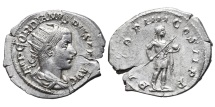 GORDIAN III. AG, Antoninianus. 241-243 AD. Rome. (Extremely fine.)