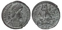 Ancient Coins - CONSTANTIUS II. AE Maiorina. 337-361 Ad. Thessalonica TSΔ.