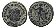Ancient Coins - CONSTANTINE I. AE, Follis. 315 AD. Rome mint. RQ. SOLI INVICTO COMITI. Scarce.