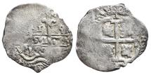 World Coins - CARLOS II. AR, 1 Real. 1689 (Double date visible). Potosi VR Pedro de Villar, mint. SPANISH COLONY.