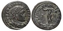 Ancient Coins - CONSTANTINE I. Æ, Follis. 315 AD Rome mint. (RS) SOLI INVICTO COMITI. S / F .