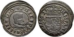 World Coins - SPAIN. Philip IV. 8 Maravedís. 1662. Madrid Y. Date on mint. J.S. -; Cal-1450 var. Rare.