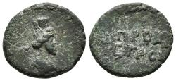 Ancient Coins - MOESIA INFERIOR. Nicopolis ad Istrum. Pseudo-autonomous (3rd century). Ae17. Turreted and draped bust of Tyche-Nike right - ΠPOC I / CTPON.