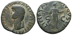 Ancient Coins - CLAUDIUS. AE, As. 41-54 AD. Rome mint. Libertas augusta. BARBAROUS IMITATION.