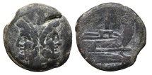 ROMAN REPUBLIC. AE33, As. Anonymous (Janus and Prow).