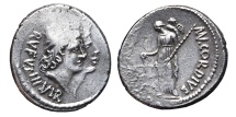 MN. CORDIUS RUFUS. AG, Denarius. 46 BC. Rome mint. Dioscuri / Venus.