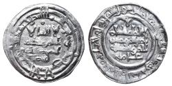 World Coins - HISHAM II. AR, Dirham. 383 AH, First reign. Al-andalus mint. CALIPHATE OF CÓRDOBA.