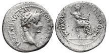 Ancient Coins - TIBERIUS. AG Denarius. 13-37 AD. Lugdunum Mint. (Tribute penny).