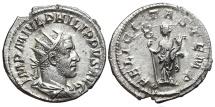 Ancient Coins - PHILIP I THE ARAB. AG, Antoninianus. 244-249 AD. Rome mint. FELICITAS TEMP.