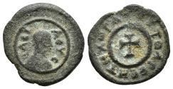 Ancient Coins - AXUM. AE14, Anonymous. Circa 370. TOYTOAPECHTHXωPA around cross pattée. KINGDOM OF AXUM.