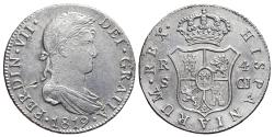 World Coins - FERNANDO VII. AR, 4 Reales. 1823. Sevilla mint C.J. Cal-812. SPAIN.