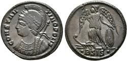 Ancient Coins - CONSTANTINE I. Follis. Foundation of Constantinople Commemorative Issue. 334-335 AD. Siscia.