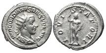 GORDIAN III. AG, Antoninianus. 241-243 AD. Rome mint. Jupiter IOVI STATORI.