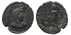 Ancient Coins - VALENTINIANUS II. Æ, Maiorina. 378-83 AD. Arles mint TCON. REPARATIO REI PVB. Scarce.