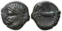 KINGS OF NUMIDIA. AE28. Massinissa or Micipsa. 148-118 BC.