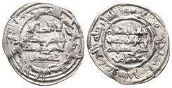 World Coins - HISHAM II. Ar, Dirham. 388 AH. Al-Andalus. Citing Muhammad in IA &´Amir in IIA. CALIPHATE OF CÓRDOBA.