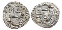 """World Coins - ABD AL-RAHMAN II. AR, Dirham. AH 213, Al-Andalus mint. var. with """"Laña"""" THE INDEPENDENT SPANISH UMAYYAD EMIRATE."""