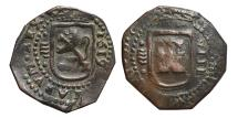 World Coins - PHILIPPUS III. AE, 8 Maravedís. 1619. Valladolid mint. (variant long shield.) SPAIN.
