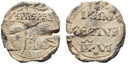 World Coins - PAPAL BULLAE, Italy. 1352-1362, INNOCENT VI. Heads of Sts. Paul and Peter.
