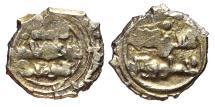 World Coins - BANU YAHWAR in the name of the imam ABD ALLAH. Taifa of Córdoba. AU, Dinar AH 422-462. RARE.