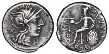 N. FABIUS PICTOR. AG. Denarius. 126 Bc. Rome.