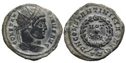Ancient Coins - CONSTANTINE I (Radiate). AE, Follis. 307-337 AD. Ticinum mint. TT .
