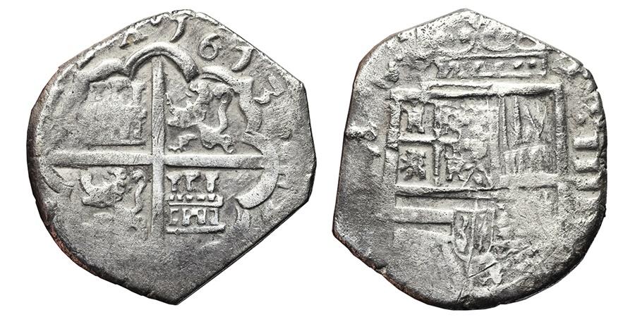 World Coins - PHILIPPVS III. 4 Reales. 1613. Toledo C. SPAIN. Scarce.